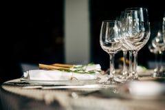 Luksusu Stołowy położenie dla przyjęcia, bożych narodzeń, wakacji i ślubów, Fotografia Royalty Free