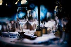 Luksusu Stołowy położenie dla przyjęcia, bożych narodzeń, wakacji i ślubów, Obrazy Stock