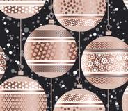 Luksusu złota różany xmas gulgocze bezszwowego wzór Zdjęcie Stock