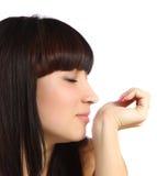 lukta kvinnabarn för doft Arkivbilder