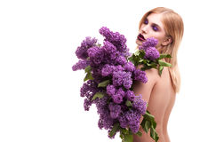 Lukten av lilor Royaltyfri Bild