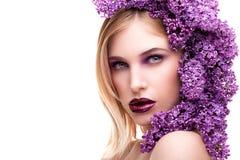 Lukten av lilor Arkivfoto