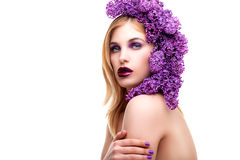 Lukten av lilor Fotografering för Bildbyråer