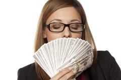 Lukten av pengar royaltyfri foto