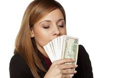 Lukten av pengar arkivbild