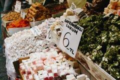 Lukum al mercato egiziano, Costantinopoli Fotografie Stock Libere da Diritti