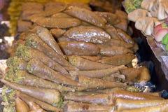 Lukum arabic sweet loukum lukumiades. Detail of lukum arabic sweet Royalty Free Stock Images