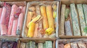 Lukum de Rahat no mercado fotos de stock