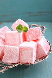 Lukum in powdered sugar Stock Image
