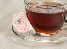 Lukum and tea Stock Photo