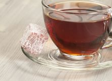 Lukum and tea Stock Image