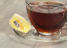 Lukum and tea Stock Photography