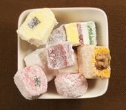 Lukum (Turkish Delight) assort Royalty Free Stock Photos
