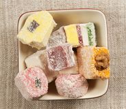 Lukum (Turkish Delight) assort Royalty Free Stock Photography