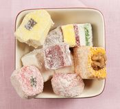 Lukum (Turkish Delight) assort Royalty Free Stock Images