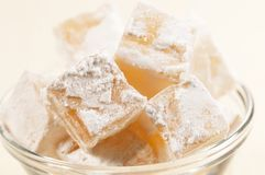 Lukum (Turkish Delight) in a bowl Stock Photography