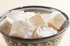 Lukum (Turkish Delight) in a bowl Royalty Free Stock Photo