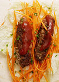 Lula kebab with carrots Royalty Free Stock Images