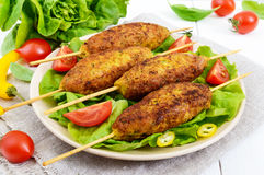 Lula-kebab is a meat dish Royalty Free Stock Images