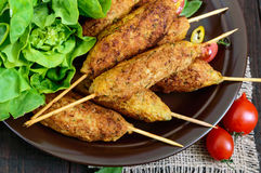Lula-kebab is a meat dish Stock Image