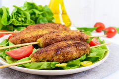 Lula-kebab is a meat dish Stock Photography