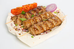 Lula kebab with vegetables Stock Images
