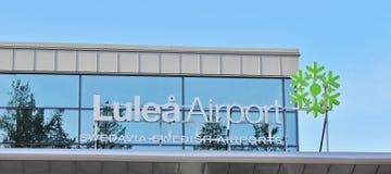 LuleÃ¥机场 免版税库存照片