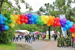 Luleå Pride in Luleå. Pride festival in Stadsparken in Lule Royalty Free Stock Images