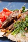 Lule-Kebab-Tellernahaufnahme lizenzfreie stockfotos