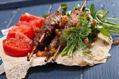 Lule-Kebabnahaufnahme stockfotografie