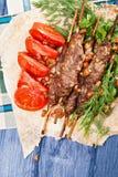 Lule-Kebabs oben stockbilder