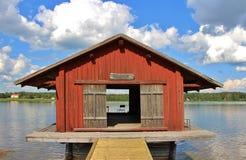 Lule river salmon fishing museum in Gäddvik Royalty Free Stock Image