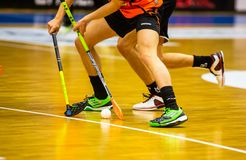 Floorball division 1, IBK Lulea vs Skelleftea IBK - EDITORIAL royalty free stock photo