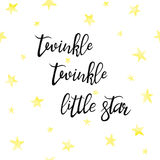Lullaby lettering star Stock Image