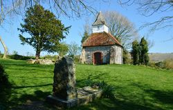 Lullington kyrka, kyrka av den bra herden, Sussex UK arkivbilder