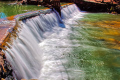 Lullwater Waterfall Spillway Stock Images