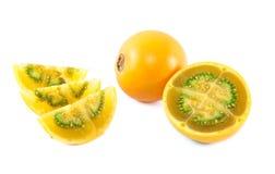 Lulo Frucht von Kolumbien Stockfotografie