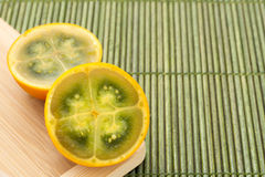 Lulo tropikalnej owoc Solanum quitoense Zdjęcie Royalty Free