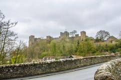 Lulow城堡,萨罗普郡,英国,英国 免版税库存图片