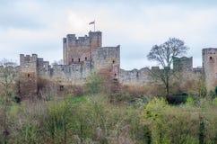 Lulow-Schloss, Shropshire, Großbritannien Stockbild