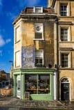 Lulu Cafe fand im georgischen Gebäude in der heißes Bad-Straße, Bad, Somerset, Großbritannien lizenzfreie stockfotografie