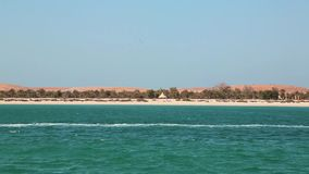 Lulu island in Abu Dhabi, United Arab Emirates stock video footage