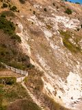 lulworth小海湾多西特视图自然风景夏日海湾beauti 图库摄影