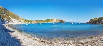 Lulworth小海湾大西洋,多彻斯特,英国, 免版税图库摄影