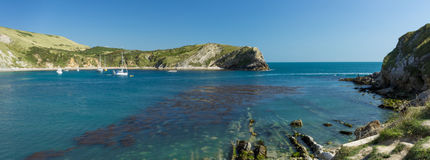 Lulworth小海湾 免版税图库摄影