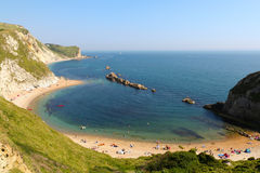 Lulworth-Bucht stockfoto