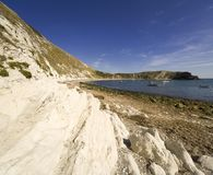 Lulworth Bucht-Dorset-Küste England Stockfotos