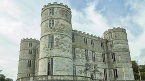 The splendour of the castle. Lulworth castle in Dorset England United Kingdom royalty free stock photos
