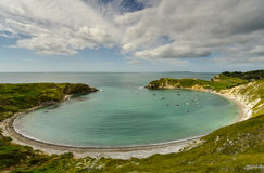 Lulworth cove arkivbilder