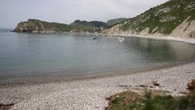 Lulworth Cove beach Dorset England UK PAN Stock Images